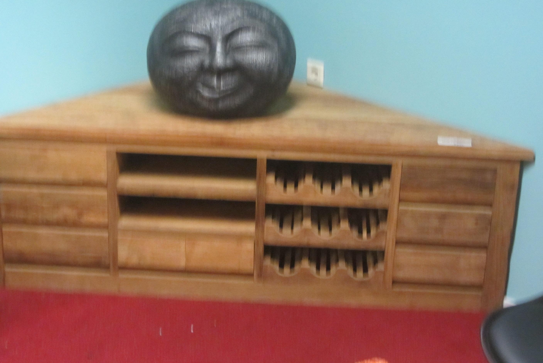Teak hoek tv dressoir 200 cm teakwood house