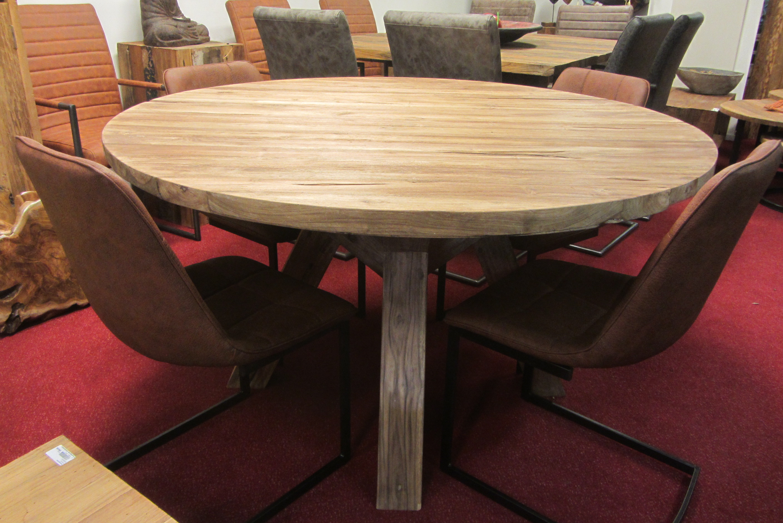 teak ronde tafel dia 140 cm maastricht teakwood house
